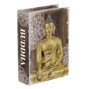 23X17CM GOLD BUDDHA MANDALA BOOK BOX