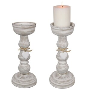 27cm heart decor candle stick holder