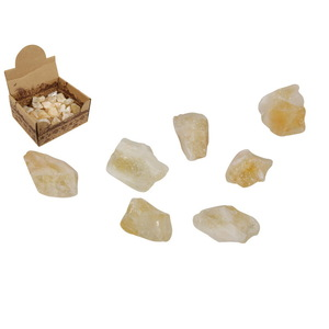 4CM CITRINE CRYSTAL CLEANSING QUARTZ IN DISPLAY
