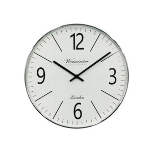 CLASSY SILVER DECOR CLOCK *CLICK & COLLECT ONLY*