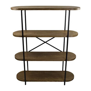 Asya wood shelves 120x39x147cm-nat/black - CLICK & COLLECT ONLY