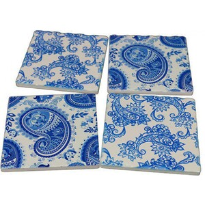 Coasters Paisley Blue