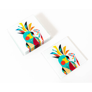 Artist Lab - Rachel Lee - Cockatoo Coaster Set - Without Box