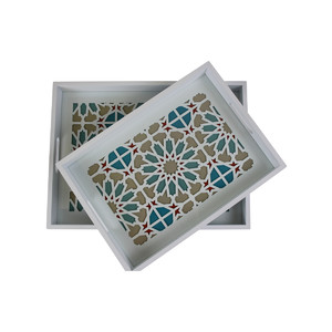 Trays Geo Floral Set/2