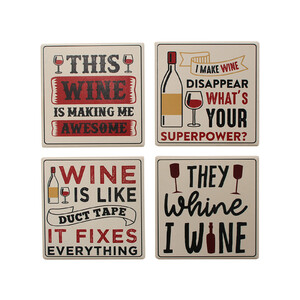 Coasters Wine Asstd