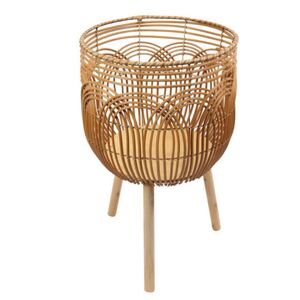 63HX37D RATTAN LOOK FLOWER BASKET - BULK ITEM