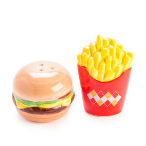 Salt & pepper set - burger and fries