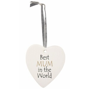 Hanging Heart Mum World
