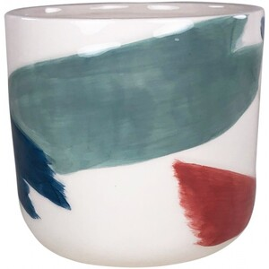 Paint Stroke Hand Painted Planter Multic